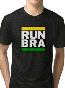 Brazil - RUN-DMC Style Design - Hip Hop Tri-blend T-Shirt