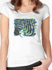 Colorful Zebra Women's Fitted Scoop T-Shirt