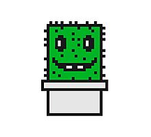 zocken face funny comic cartoon pixel nerd geek gamer videogame 2d 8 bit cactus design games Photographic Print