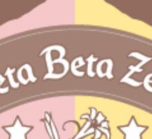 Zeta Beta Zeta (greek) Sticker