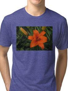Hot Orange Lily  Tri-blend T-Shirt