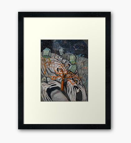 Screaming Hills Framed Print