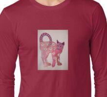 Floral Feline!.... Long Sleeve T-Shirt