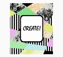 CREATE! - Pop art style, abstract, stripey, block colour, inspirational patterned art Unisex T-Shirt