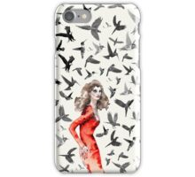 Barcelona Summer Bird Lady  iPhone Case/Skin