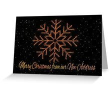 Merry Christmas from New Address Greeting Card