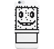 zocken face funny comic cartoon pixel nerd geek gamer videogame 2d 8 bit cactus design games iPhone Case/Skin