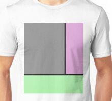 Urban Geometric 1 - Pop art, geometric, abstract, block pink and green design Unisex T-Shirt