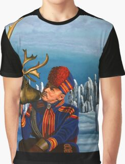 Deer Friends Of Finland Painting Graphic T-Shirt