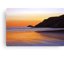 Earth Sunrise Sea Painting Canvas Print