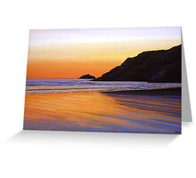 Earth Sunrise Sea Painting Greeting Card