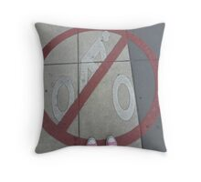 No Bicycles Throw Pillow