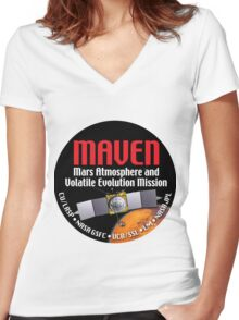 MAVEN Launch Logo Women's Fitted V-Neck T-Shirt