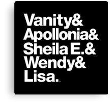 Prince Protégés Apollonia & Carmen Electra Helvetica Threads Canvas Print