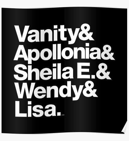 Prince Protégés Apollonia & Carmen Electra Helvetica Threads Poster