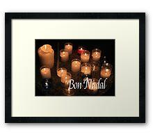 Bon Nadal - Catalan Christmas Card Framed Print