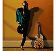 Chris Whitley painting Photographic Print
