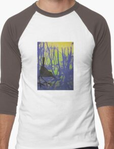 Dipping about on Stanage Edge..... Men's Baseball ¾ T-Shirt