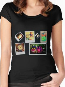 Mad Hatter's Tea Party & Guests Women's Fitted Scoop T-Shirt