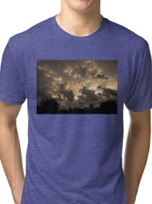 Extraordinary Mammatus Clouds At Sunset Tri-blend T-Shirt