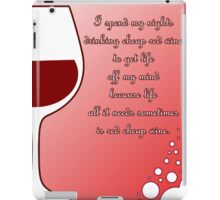 Cheap red wine iPad Case/Skin