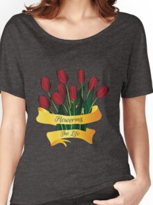 flowering the life Women's Relaxed Fit T-Shirt