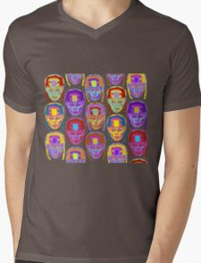 Roller Derby Girl Pattern Mens V-Neck T-Shirt