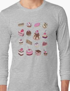 Yummy colorful Cupcakes Long Sleeve T-Shirt