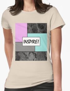 INSPIRE! - Abstract, geometric, marble effect, pink and blue pop art painting Womens Fitted T-Shirt