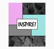 INSPIRE! - Abstract, geometric, marble effect, pink and blue pop art painting Unisex T-Shirt