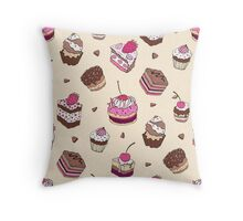 Yummy colorful Cupcakes Throw Pillow