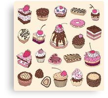 Yummy colorful Cupcakes Canvas Print