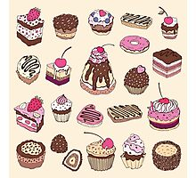 Yummy colorful Cupcakes Photographic Print