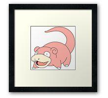 Pokemon - Slowpoke Framed Print