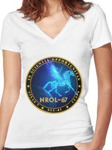 NROL-67 Program Logo Women's Fitted V-Neck T-Shirt