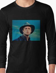 Brad Pitt Painting Long Sleeve T-Shirt