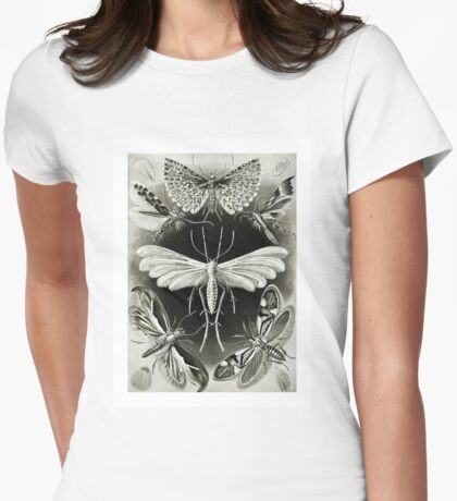 Moths in Pale Light Womens Fitted T-Shirt