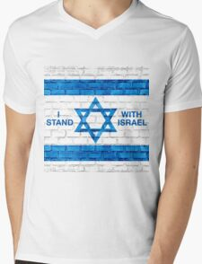 I Stand With Israel! Mens V-Neck T-Shirt