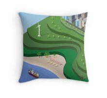 Beach Sea isometric  Throw Pillow
