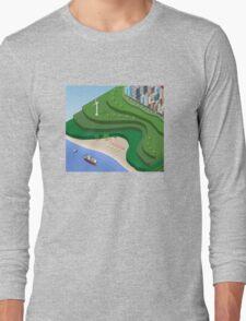 Beach Sea isometric  Long Sleeve T-Shirt