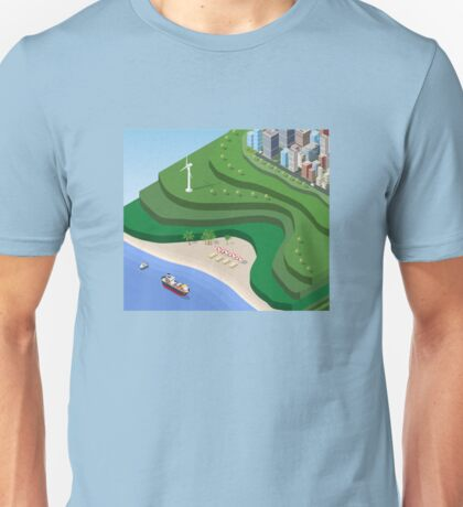 Beach Sea isometric  Unisex T-Shirt