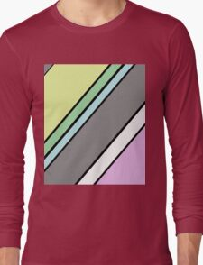 Urban Geometry 2 - Colour At 45 Degrees Long Sleeve T-Shirt