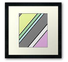 Urban Geometry 2 - Colour At 45 Degrees Framed Print