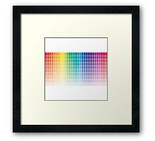 Color Chart Grid Framed Print