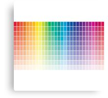 Color Chart Grid Canvas Print