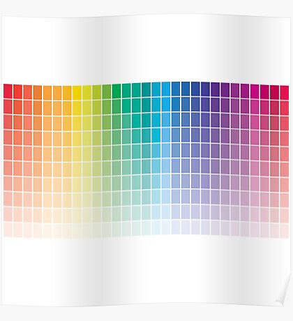 Color Chart Grid Poster