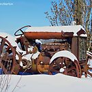 Snow Covered Tractor by James Brotherton