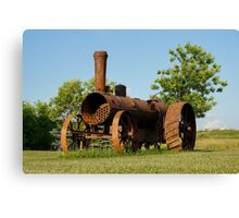 Antique Tractor - A Rusty Relic on a Farm Canvas Print