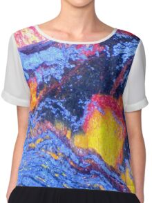 Volcanic Landscape (Tiger Eye) Chiffon Top