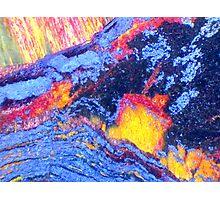 Volcanic Landscape (Tiger Eye) Photographic Print